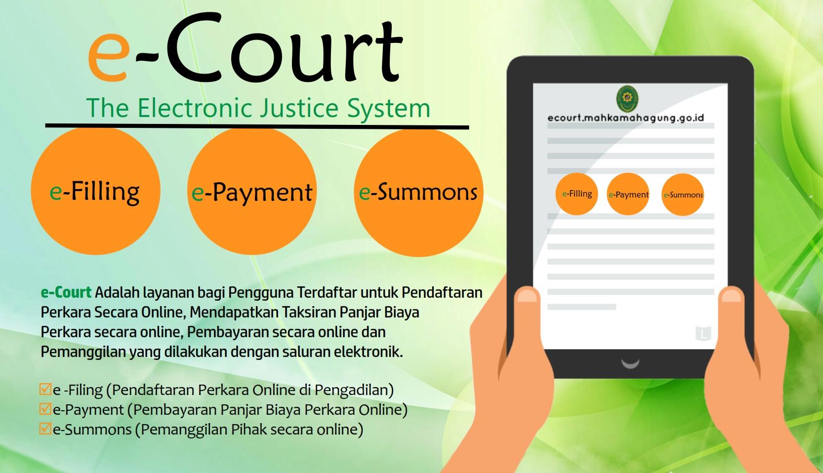 Aplikasi Sistem Pengadilan Online ( E-Court )
