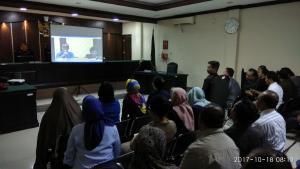 Teleconference dengan Ketua Pengadilan Tinggi Surabaya