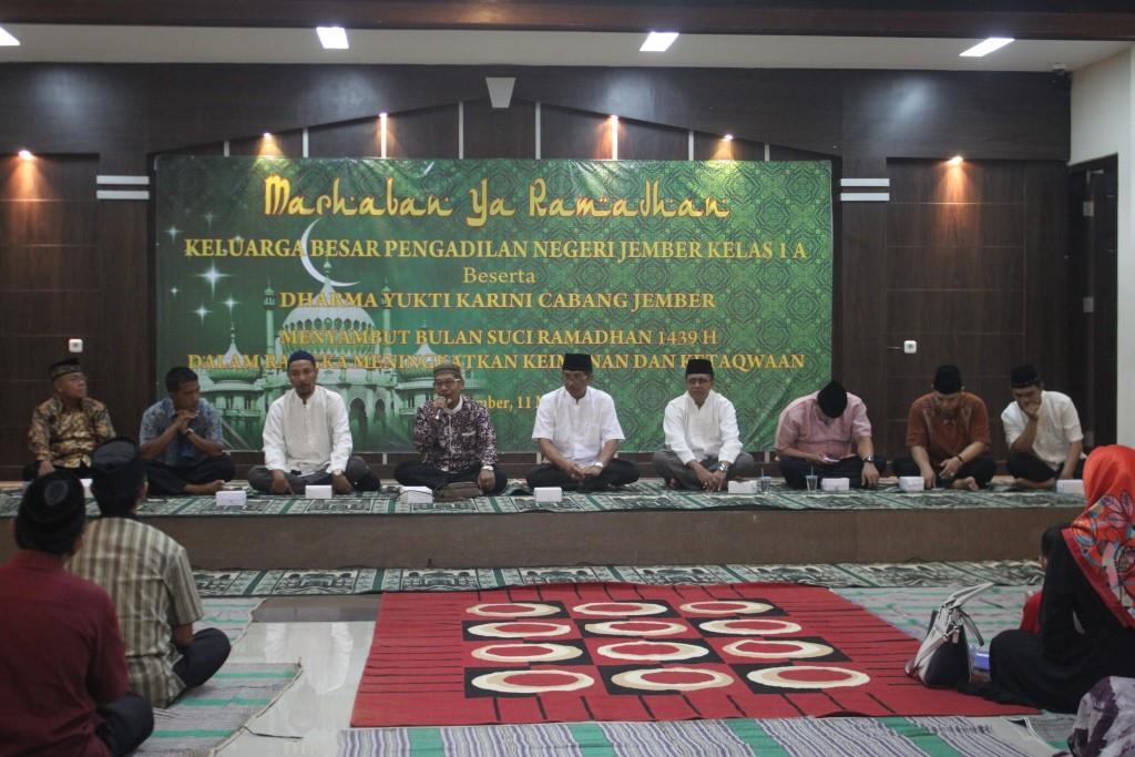 Kegiatan dalam rangka menyambut bulan suci Ramadhan  1439 H/2018