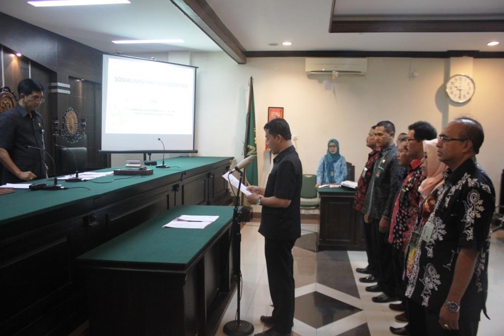 Panandatanganan Pakta Integritas PN Jember Tahun 2018