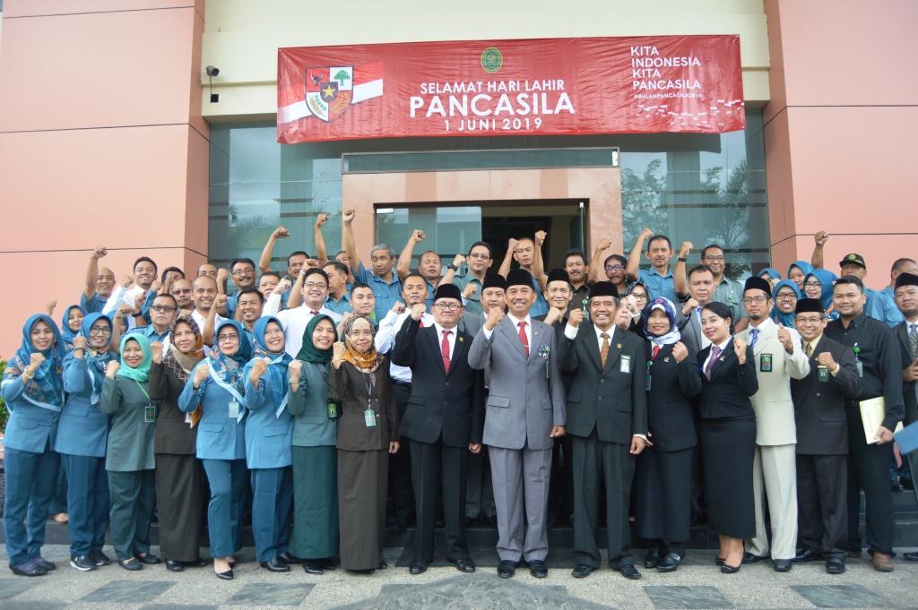 UPACARA BENDERA DALAM RANGKA PERINGATAN HARI LAHIR PANCASILA TAHUN 2019